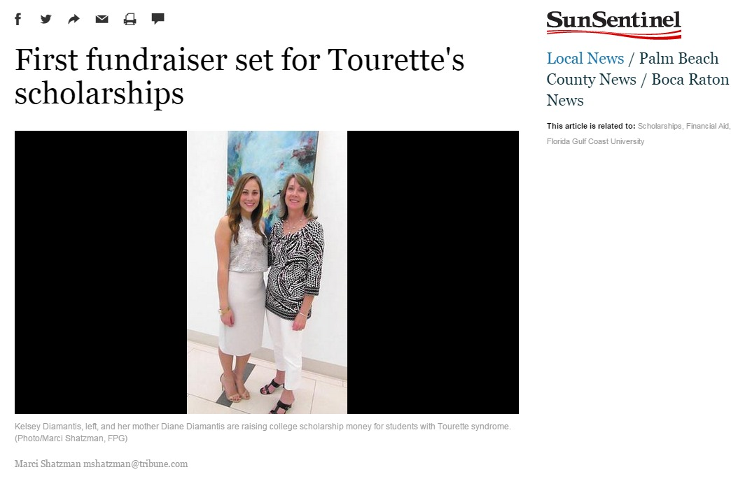 Tourettes Scholarship Event