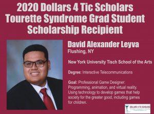 Grad Student College Scholarship Recipient 2020