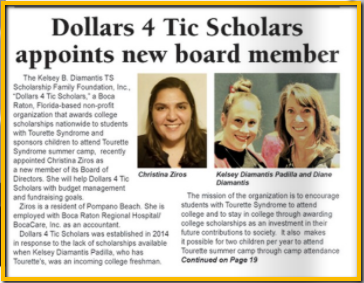 Dollars 4 Tic Scholars Appoints New Board Member